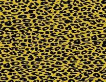 Päls för Leopardtryckhud Arkivbilder