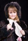 pälsflicka little Royaltyfri Bild
