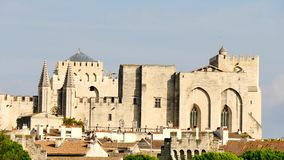 Päpstlicher Palast in Avignon, Frankreich stock video