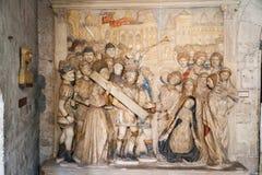 Päpstlicher Palast Avignon Frankreich Stockfoto
