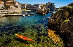 Pärla av Adriatiska havet Arkivfoto