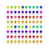Pärla färgrik uppsättning för godis Arkivfoton