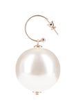 Pärlemorfärg örhängen royaltyfri bild