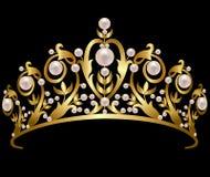 Pärlemorfärg diadem Royaltyfri Fotografi