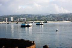 Pärlemorfärg hamn, Oahu, Hawaii Arkivbild