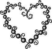 Pärlemorfärg hjärta royaltyfri illustrationer