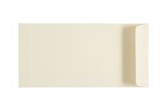 Pärlemorfärg kuvert för vit som isoleras på en vit bakgrund Fästa ihop PA Fotografering för Bildbyråer