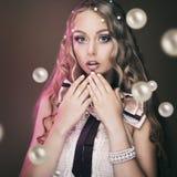 Pärlemorfärg pärlemorfärg skönhet Fotografering för Bildbyråer