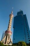 pärlemorfärg shanghai torn Royaltyfri Foto