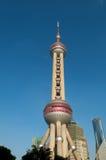pärlemorfärg shanghai torn Royaltyfri Bild
