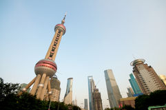 pärlemorfärg shanghai torn Royaltyfri Fotografi