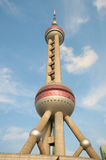 pärlemorfärg shanghai torn Arkivfoto