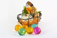 pärlor för äpplekorgbad steg Royaltyfri Foto
