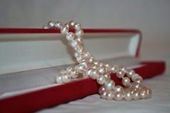 Pärlor halsband, smycken, Arkivbilder