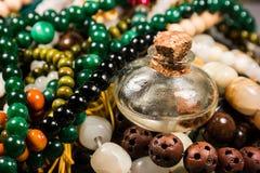 Pärlor och exponeringsglas Fotografering för Bildbyråer