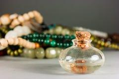 Pärlor och exponeringsglas Arkivfoton