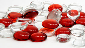 pärlor tar bort glass red Arkivbild
