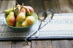 Päron från trädgård Royaltyfri Foto
