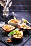 Päron med ost Arkivfoto