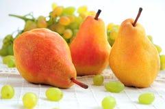 Päron och druvor Royaltyfri Fotografi