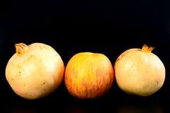 Päron och granatäpple för ny grupp orientaliskt Arkivbilder