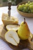 Päron-och-ost Royaltyfria Bilder