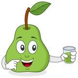 Päron som rymmer en ny sammanpressad fruktsaft Arkivfoton