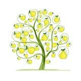Päronträd för din design Arkivfoto