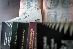 Pässe und Visum stockbild