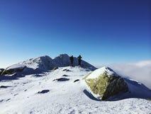 På överkanten av berg Royaltyfria Foton