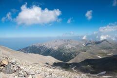 På överkanten av Mount Olympus Arkivfoto