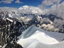På överkanten av världen i Chamonix Royaltyfri Foto