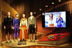 På ABBA museet i Stockholm Royaltyfri Bild