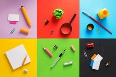På abstrakt begrepp på abstrakt färgrikt papper Arkivbilder