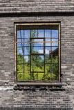 På andra sidan av fönstret - olika världar Royaltyfria Foton