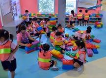 På barn museum, Bangkok, Thailand Arkivfoto