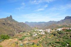 By på bergen Arkivbild