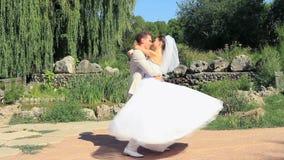 På bröllopdagen stock video