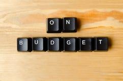 På budget- ord Royaltyfri Foto