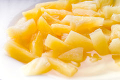 På burk ananas royaltyfria bilder