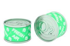 På burk syre, två gröna tenn Royaltyfri Foto
