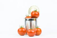 På burk tomater 2 Royaltyfri Fotografi