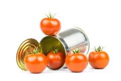 På burk tomater Royaltyfri Fotografi