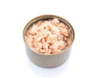 På burk Tuna Flake dropp arkivbild