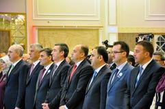 På ceremonin som markerar dagen av Kosovo turker Royaltyfri Bild