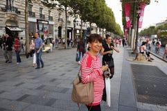 På Champset-Elysees Fotografering för Bildbyråer