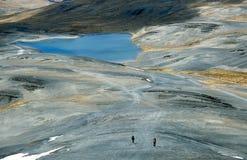 På Choroen Inca Trail bort - Trekking i Bolivia royaltyfria bilder
