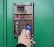 På-dörr speakerphone. Royaltyfri Bild