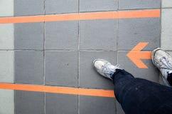 På den högra vägen Fotografering för Bildbyråer