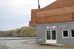 På den norr porten av ön Utsira, Norge Fotografering för Bildbyråer